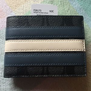 NWT Men's Coach wallet